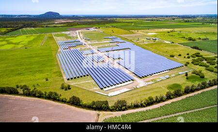 The Sunshine Coast Solar Farm at Valdora, near Yandina and Coolum, on the Sunshine Coast of Queensland, Australia. - Stock Photo