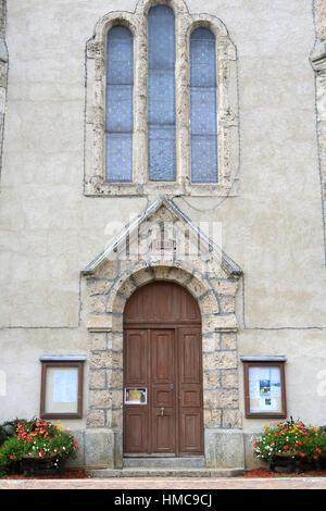 Eglise Sainte-Marie Madeleine. Praz-sur-Arly. France. - Stock Photo