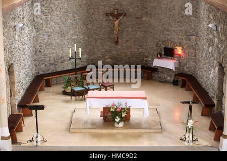 Autel. Eglise Sainte-Marie Madeleine. Praz-sur-Arly. France. - Stock Photo