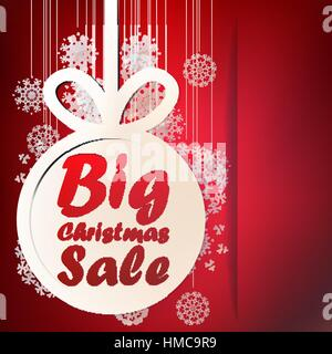Christmas Big Sale template with copy space. + EPS10 vector file - Stock Photo