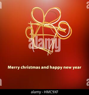 Christmas card template design.  + EPS8 vector file - Stock Photo
