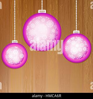 Christmas balls with place for your images.  + EPS8 vector file - Stock Photo