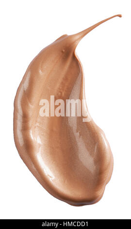A cut out beauty image of a sample of tanning product - Stock Photo
