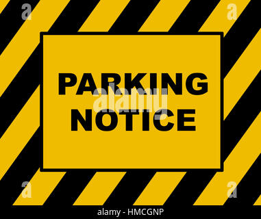 Parking fine notice, parking violation. - Stock Photo