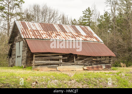 Rusty Tin Roof. - Stock Photo