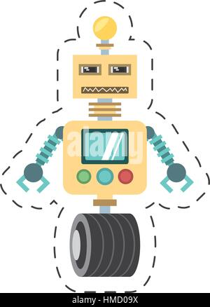 robotic technology bulb display worker cutting line vector illustration eps 10 - Stock Photo