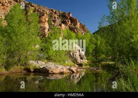 Agua Fria River canyon along Badger Springs Trail, Agua Fria National Monument, Arizona. - Stock Photo