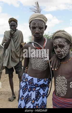 Erbore Tribe, Omo River Valley, South Ethiopia, Africa - Stock Photo