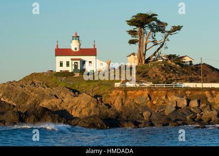 Battery Point Lighthouse, Battery Point Lighthouse Park, Crescent City, California. - Stock Photo