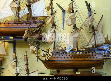 Display Of Products In Factory Handmade Scale Model Wooden Ships Curepipe Mauritius