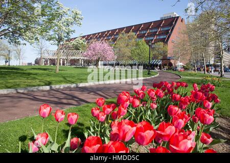 Massachusetts boston christopher columbus waterfront park for Columbus spring