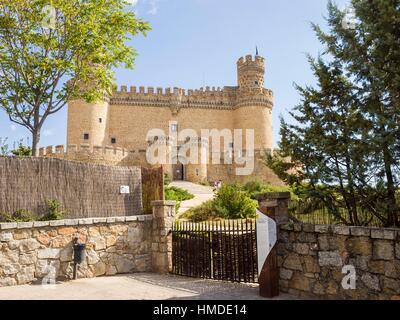 Castillo de Manzanares el Real. Madrid. España - Stock Photo