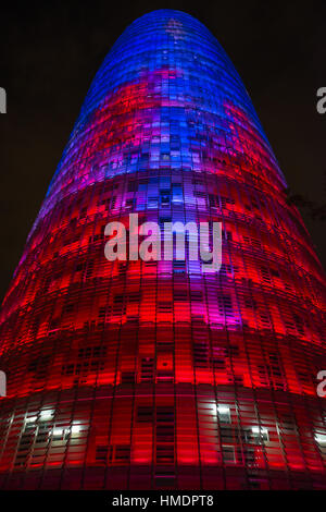 Agbar Tower, by Jean Nouvel. Glories district. Barcelona. Spain. - Stock Photo