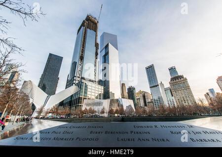 World Trade Center and Ground Zero New York City - Stock Photo