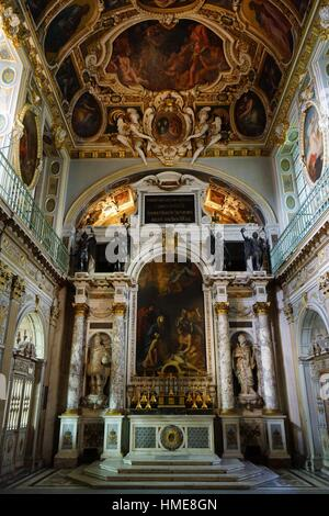 Trinitarians Chapel. Palace of Fontainebleau. France - Stock Photo