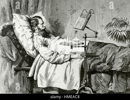 Frederick William IV (1795-1861). King of Prussia. The King in on his deathbed, in an improvised study cabinet. - Stock Photo