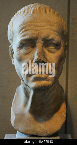 Julius Caesar (100BC-44BC). Roman politician and general. Bust. City Museum. Malmo Castle. Sweden. - Stock Photo