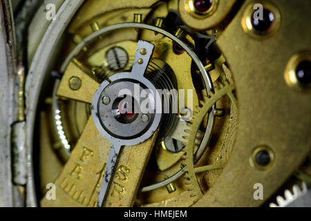 Pocket Watch showing movement - Stock Photo