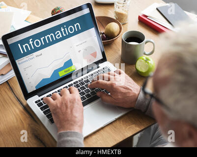 Information Performance Analysis Report Graphic Concept Stock