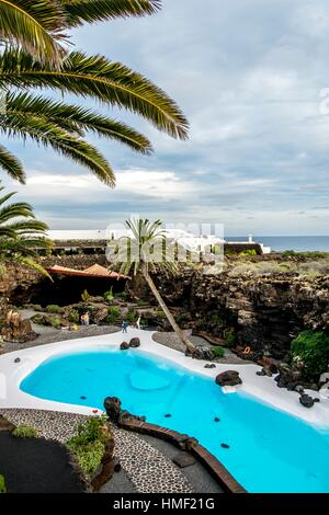 Jameos del Agua by Cesar Manrique in Lanzarote, Canary Islands, Spain. - Stock Photo