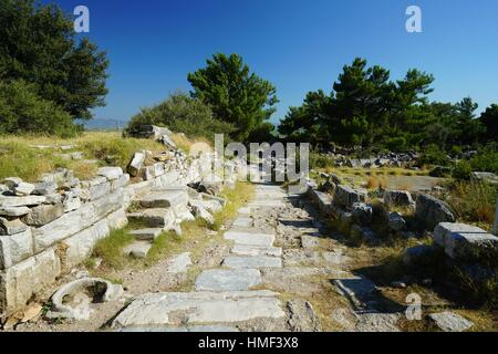 Priene. Ancient Greece. Asia Minor. Turkey - Stock Photo