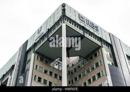 Rotterdam, Netherlands. Dual Head Quarters building of HQ of the internationally operation corporations Unilever - Stock Photo