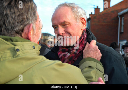 Martin McGuinness, Sinn Fein, at the 45th Bloody Sunday memorial service in Derry, Londonderry. - Stock Photo