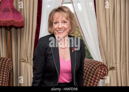 Dame Esther Rantzen in the Beech Hotel, Ardmore, Derry - Londonderry, Northern Ireland. - Stock Photo