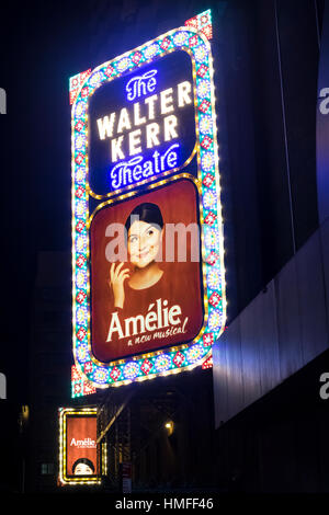 Amelie, a new musical opening at the Walter Kerr Theatre in March 2017 - Stock Photo