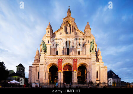 Sacre Coeur Basilica, Montmartre, Paris, France - Stock Photo