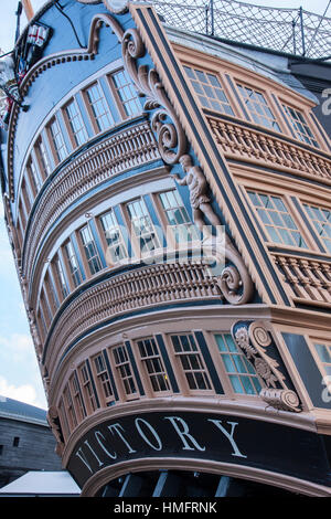 Stern of HMS Victory - Stock Photo