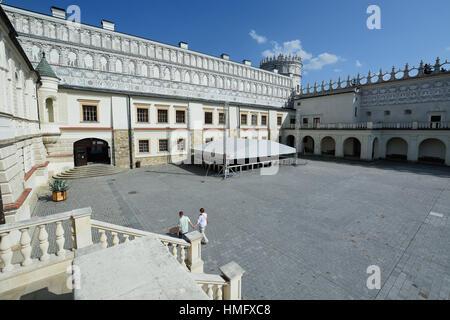 Zamek w Krasiczynie. Castle in Krasiczyn - Stock Photo