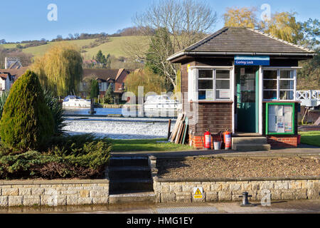 Lock Keepers Office Goring On Thames Oxfordshire UK - Stock Photo
