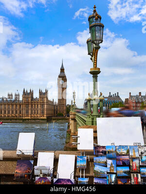 Big Ben London postcards Clock tower in UK images of cards are my own copyright - Stock Photo