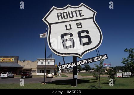 National Route 66 Museum, Elk City, Oklahoma. - Stock Photo