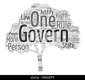 anarchy law order and authority text background word cloud concept - Stock Photo