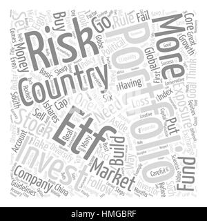 Eight Rules For ETF Success Word Cloud Concept Text Background - Stock Photo