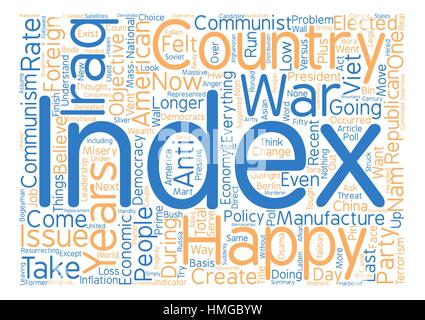 America s Happiness Index At New Low text background wordcloud concept - Stock Photo