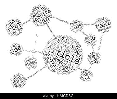 Build Website Traffic For Free text background wordcloud concept - Stock Photo