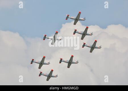 Polish Air Force Orlik Aerobatic Team - Stock Photo