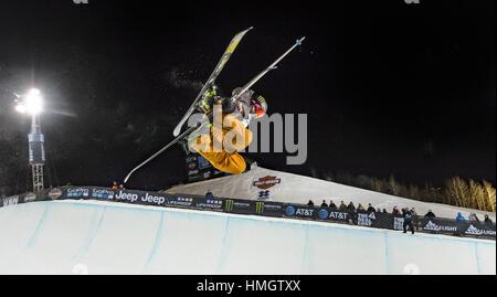 Aspen, Colorado, USA. 27th Jan, 2017. Aspen CO, U.S. - DEVIN LOGAN competes on her second run of the women's ski - Stock Photo