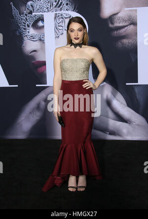 Los Angeles, CA - FEBRUARY 2, Violett Beane, At Premiere Of Universal Pictures' 'Fifty Shades Darker', At The Theatre - Stock Photo