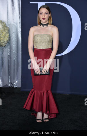 Los Angeles, California, USA. 2nd February 2017. Actress Violett Beane at the premiere of 'Fifty Shades Darker' - Stock Photo