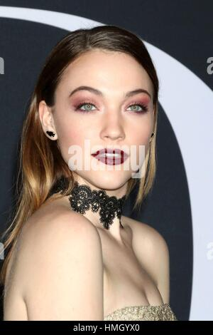 Los Angeles, CA, USA. 2nd Feb, 2017. Violett Beane at arrivals for FIFTY SHADES DARKER Premiere, The Theatre at - Stock Photo