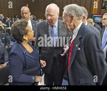 January 28, 2015 - Washington, District of Columbia, United States of America - United States Senators Patrick Leahy - Stock Photo