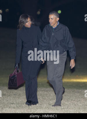 Washington, District of Columbia, USA. 28th Jan, 2015. United States President Barack Obama and first lady Michelle - Stock Photo