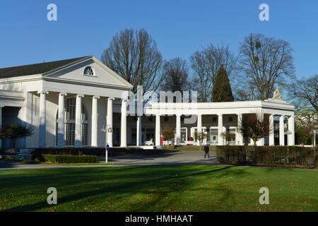 Change hall, health resort park, bath Oeynhausen, North Rhine-Westphalia, Germany, Wandelhalle, Kurpark, Bad Oeynhausen, - Stock Photo