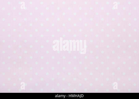Pink polka dot fabric texture background - Stock Photo
