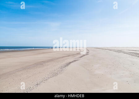 Sandy beach at the coast of the East Frisian Island Norderney, Germany - Stock Photo