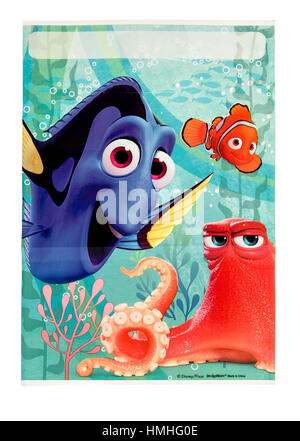 Winneconne, WI -29 January 2017:   Finding Dory loot bag on an isolated background. - Stock Photo